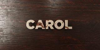 Carol - titre en bois sale sur l'érable - image courante gratuite de redevance rendue par 3D illustration libre de droits