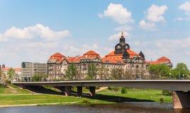 Carolabrucke Dresden Arkivbild