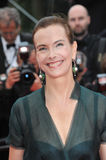 Carole Bouquet. CANNES, FRANCE - MAY 19, 2014: Carole Bouquet at the gala premiere of Foxcatcher at the 67th Festival de Cannes Royalty Free Stock Photo