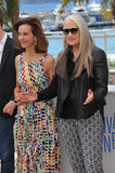 Carole Bouquet & Jane Campion. CANNES, FRANCE - MAY 14, 2014: Carole Bouquet & Jane Campion (right) at the photocall for the Jury at the 67th Festival de Stock Image