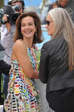 Carole Bouquet & Jane Campion. CANNES, FRANCE - MAY 14, 2014: Carole Bouquet & Jane Campion (right) at the photocall for the Jury at the 67th Festival de Royalty Free Stock Image