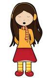 Caroler - Girl Royalty Free Stock Images