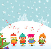 Caroler Kids Royalty Free Stock Image