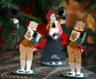 Caroler Ornaments Royalty Free Stock Photography