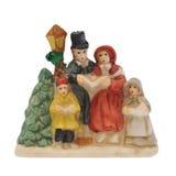 воск статуи рождества carolers миниатюрный Стоковое фото RF