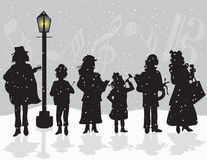 CAROLERS Royalty Free Stock Image