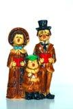 Carolers antiques de Noël Photographie stock