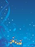 Carolers de Noël Image libre de droits