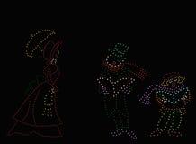 Carolers pasados de moda de la Navidad Imagen de archivo libre de regalías