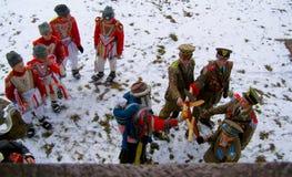 Carolers in Roemenië Moldavië Transsylvanië Royalty-vrije Stock Afbeelding