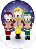 Carolers van Kerstmis. Stock Foto's