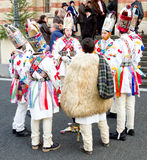 Carolers van Kerstmis, Sibiu Stock Foto's