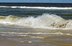 Carolina Beach Crashing Waves fotografía de archivo