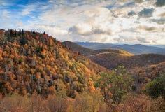 Carolina Blue Ridge Mountains Autumn du nord photographie stock libre de droits