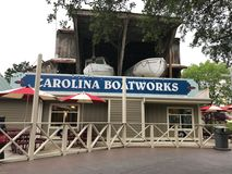 Carolina Boatworks Building at Carowinds in Charlotte, NC Stock Photo