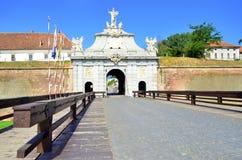 Carolina citadel west gate - Alba Iulia Stock Photo