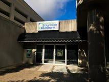 Carolina Education Lottery sul em Main Street, Colômbia, SC Imagens de Stock