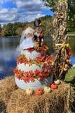Carolina Fall Wedding Cake Display du nord Photos libres de droits