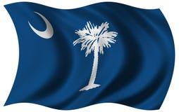 carolina flagę na południe Obrazy Stock