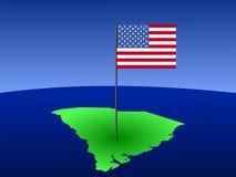carolina flagę na południe Fotografia Royalty Free