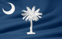 carolina flagę na południe obraz stock