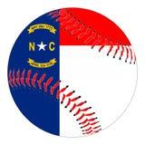 Carolina Flag Baseball norte ilustração royalty free