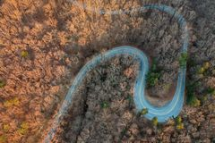 Carolina Foothills Upstate del sud all'alba fotografia stock