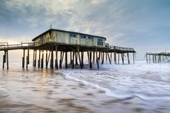 Carolina Frisco Abandoned Fishing Pier del nord Fotografie Stock