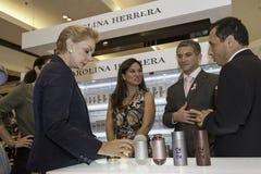 Carolina Herrera som besöker Peru royaltyfri bild
