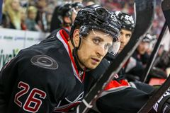 Carolina Hurricanes defenseman John-Michael Liles Stock Photography