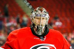 Carolina Hurricanes goalie Justin Peters Stock Photos