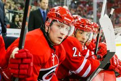 Carolina Hurricanes left wing Jiri Tlusty Royalty Free Stock Images