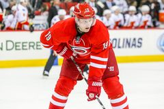 Carolina Hurricanes left wing Jiri Tlusty Stock Photo