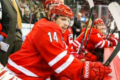 Carolina Hurricanes left wing Nathan Gerbe Stock Image