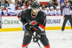 Carolina Hurricanes left wing Tuomo Ruutu Royalty Free Stock Images