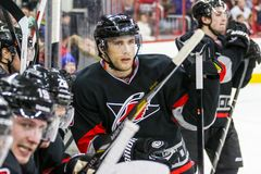 Carolina Hurricanes left wing Tuomo Ruutu Royalty Free Stock Photo