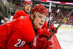Carolina Hurricanes right wing Alexander Semin Stock Photography