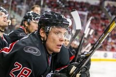 Carolina Hurricanes right wing Alexander Semin Royalty Free Stock Photos