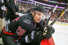 Carolina Hurricanes right wing Alexander Semin Royalty Free Stock Photography