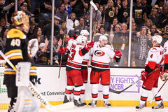 Carolina Hurricanes score a goal Stock Photography