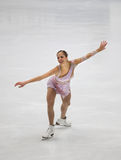 Carolina Kostner of Italy royalty free stock photography