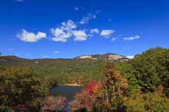 Carolina Lake et montagnes du sud Photographie stock libre de droits
