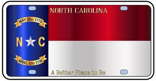 Carolina License Plate Flag du nord illustration stock