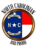 Carolina Proud Flag Button del nord Fotografie Stock Libere da Diritti