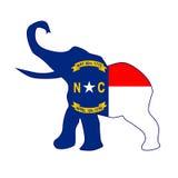 Carolina Republican Elephant Flag del nord Fotografia Stock Libera da Diritti