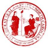 Carolina Seal Rubber Stamp du nord Images stock
