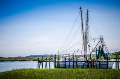 Carolina Shrimp Trawler Arkivfoto