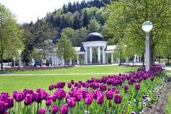 Carolina spring colonnade, Marianske lazne, Czech republic Royalty Free Stock Image