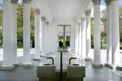 Carolina spring colonnade, spa Marianske lazne, Czech republic Stock Images