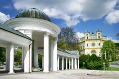 Carolina spring colonnade, spa Marianske lazne, Czech republic Royalty Free Stock Image